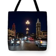 Holiday In Motion On The Plaza Tote Bag