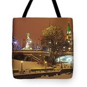 Holiday In Ottawa - Parliament And Peace Tower Night Lights Tote Bag