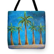 Holiday Palms Tote Bag