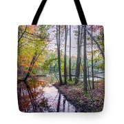 Holiday Park Lake At Dusk Tote Bag