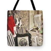 Holiday Porch Tote Bag