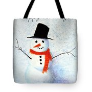 Holiday Snowman Tote Bag