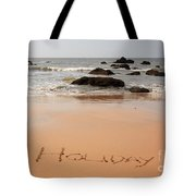 Holiday Written In The Sand Tote Bag
