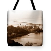 Holland Michigan Harbor Big Red Aerial Photo Tote Bag