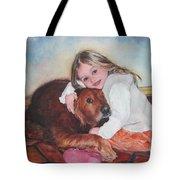 Hollis And Hannah - Cropped Version Tote Bag