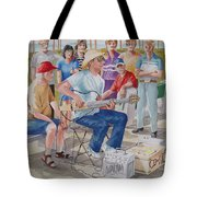 Hollow Guitar Player Tote Bag