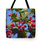Holly Berries On A Wintry Day I Tote Bag