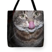 Holly The Cat Sticking Out Tongue Tote Bag