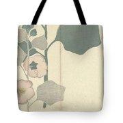 Hollyhock, Nakamura Hochu, 1826 Tote Bag