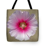 Hollyhock On Linen 2 Tote Bag