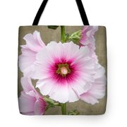 Hollyhock On Linen Tote Bag