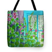 Hollyhock Surprise Tote Bag