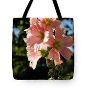 Hollyhocks 1 2017 Tote Bag