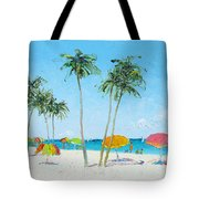 Hollywood Beach Florida And Coconut Palms Tote Bag