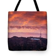 Hollywood Sign At Sunset Tote Bag