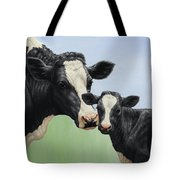 Holstein Cow And Calf Tote Bag by Crista Forest