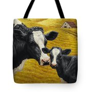 Holstein Cow And Calf Farm Tote Bag by Crista Forest