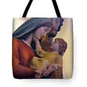 Holy Family Statue Tote Bag