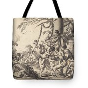 Holy Family With Putti Tote Bag