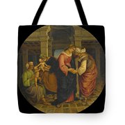 Holy Family With Saints John Elisabeth And Zacharias Tote Bag