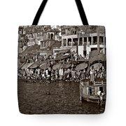Holy Ganges Monochrome Tote Bag