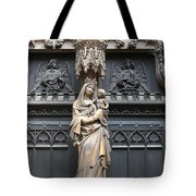 Holy Mary And Child Tote Bag