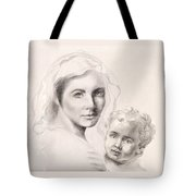Holy Mary And Christ Child Tote Bag