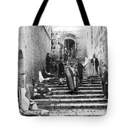 Holy Sepulchre Stairs Tote Bag
