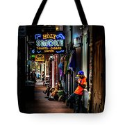Holy Smoke Bourbon Street Tote Bag