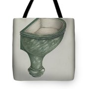 Holy Water Font, Santa Barbara Tote Bag