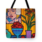 Homage To Lichtenstein And Wesselmann Tote Bag