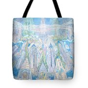 Homage To New York And The Chrysler Building Tote Bag