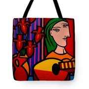 Homage To Picasso Tote Bag