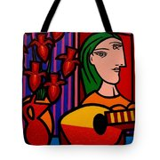 Homage To Picasso Tote Bag by John  Nolan