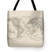 Homalographic World Map  Tote Bag