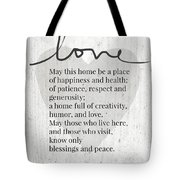 Home Blessing Rustic- Art By Linda Woods Tote Bag