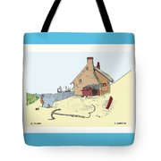 Home By The Sea Tote Bag by Donna Munro