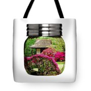 Home Flower Garden In A Glass Jar Art Tote Bag