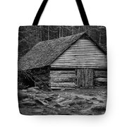 Home In The Woods Bw Tote Bag