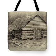 Home In The Woods Sepia Tote Bag
