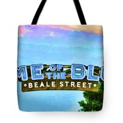 Home Of The Blues - Beale Street Tote Bag