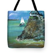 Home Overlooking The Sea Tote Bag