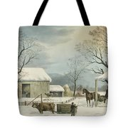 Home To Home To Thanksgiving, 1867 Tote Bag