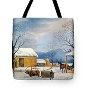 Home To Thanksgiving, 1867 Tote Bag