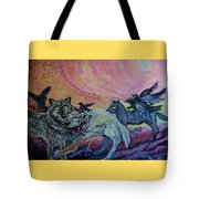 Homecoming Wolves And Ravens Tote Bag