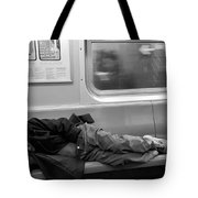 Homeless In Motion In Black And White Tote Bag