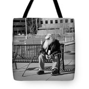 Homeless Man Tote Bag