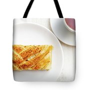 Homemade Puff Braided Pie With Cottage Cheese, Apples And Raisin Tote Bag