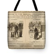 Homeopathy Vs. Allopathy, Caricature Tote Bag