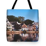 Homes On Kennebunkport Harbor Tote Bag